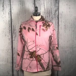 Realtree pink leaf sports winter jacket women's S